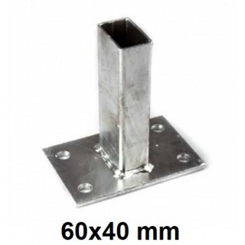 Podstawa Stopka Montażowa Do Słupka 60x40 mm