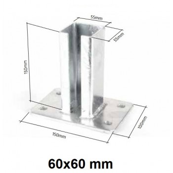 Pdstawa Stopka Montażowa Do Słupka 60X60 mm