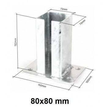 Podstawa Stopka Montażowa Do Słupka 80x80 mm