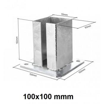 Podstawa Stopka Montażowa Do Słupka 100x100 mm