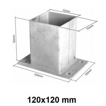 Podstawa Stopka Montażowa Do Słupka 120x120 mm