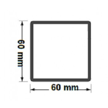 Słupek Ogrodzeniowy Furtkowy 60X60 mm + Nitonakretki Ocynkowany H- 2,0 m #5