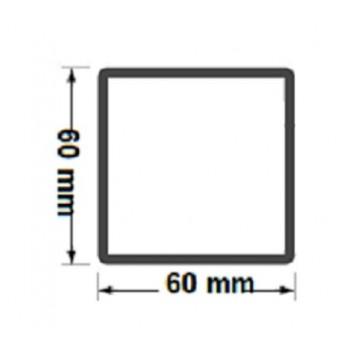 Słupek Ogrodzeniowy 60X60 mm Ocynkowany H- 2,0 m #3