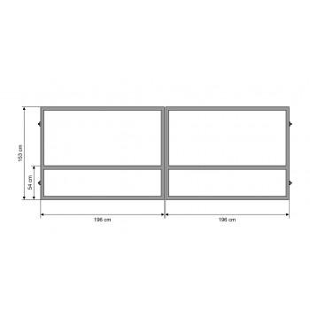 Brama Ogrodzeniowa Skrzydłowa Konstrukcja Ocynkowana H-153 cm