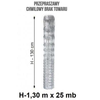 Siatka Ogrodzeniowa Rolno Leśna Gęsta wys. 1,3 m x 25 mb