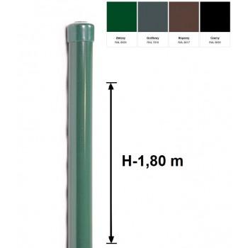 Słupek Ogrodzeniowy Powlekany Ocynk+PCV fi 42mm H-1,8 m