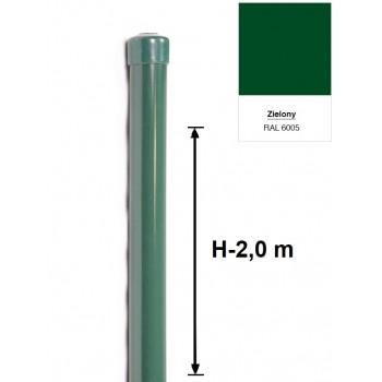 Słupek Ogrodzeniowy Powlekany Ocynk+PCV fi 42mm H-2,0 m #3
