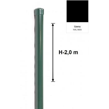 Słupek Ogrodzeniowy Powlekany Ocynk+PCV fi 42mm H-2,0 m #5