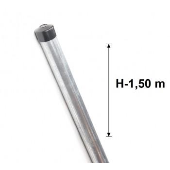 Słupek Ogrodzeniowy Ocynkowany fi 42,4x1,5 mm H-1,5 m