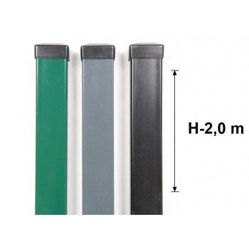 Słupek Ogrodzeniowy Panelowy 60x40 mm Ocynk+Kolor H-2,0 m