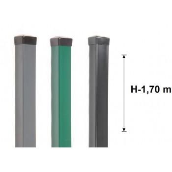 Słupek Ogrodzeniowy 60x60 mm Kolor Wys. 1,70 m