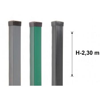 Słupek Ogrodzeniowy 60x60 mm Ocynk+Kolor H- 2,3 m