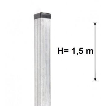 Słupek Ogrodzeniowy 60x60 mm Ocynkowany H-1,5 m