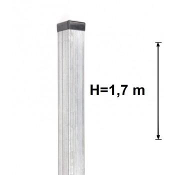 Słupek Ogrodzeniowy 60x60 mm Ocynkowany, Wys.170 cm