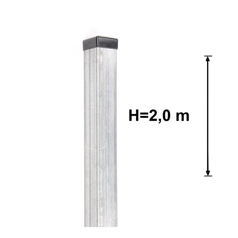 Słupek Ogrodzeniowy 60X60 mm Ocynkowany H- 2,0 m