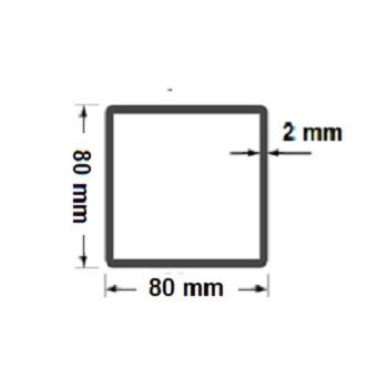 Słupek Ogrodzeniowy Bramowy 80x80 mm Ocynkowany Wys. 2,30 m #2