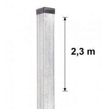 Słupek Ogrodzeniowy Bramowy 100x100 mm Ocynkowany , Wys. 2,30 m