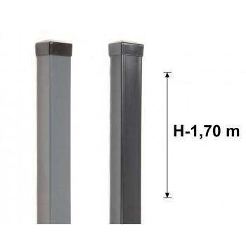 Słupek Ogrodzeniowy 50x50 mm Ocynk+Kolor ,Wys. 170 cm
