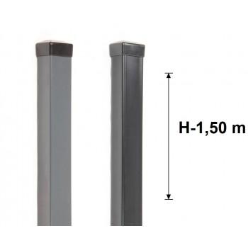 Słupek Ogrodzeniowy 50x50 mm Ocynk+Kolor ,Wys. 150 cm