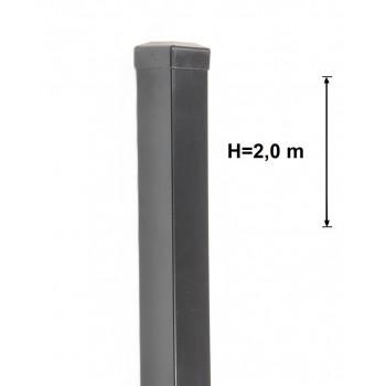 Słupek Ogrodzeniowy Bramowy Gładki 100x100 mm Kolor ,Wys. 2,0 m