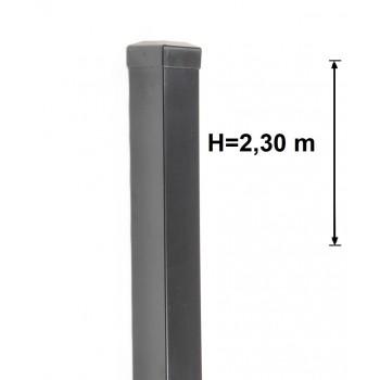 Słupek Ogrodzeniowy Bramowy Gładki 100x100 mm Ocynk+Kolor ,Wys. 2,30 m