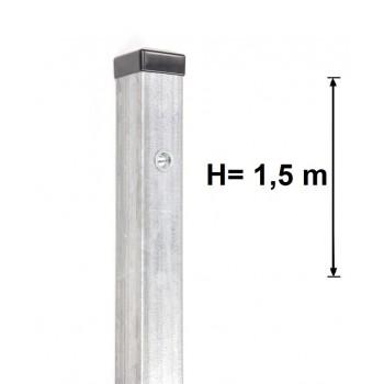 Słupek Ogrodzeniowy Furtkowy 60X60 mm + Nitonakrętki Ocynkowany H- 1,5 m