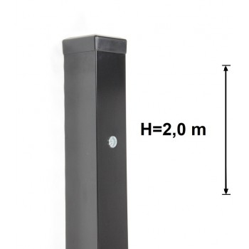 Słupek Bramowy 80x80 mm Kolor+Nitonakrętki Wys. 2,0 m