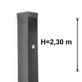 Słupek Bramowo - Furtkowy 80x80 mm Kolor+Nitonakrętki , Wys. 2,30 m