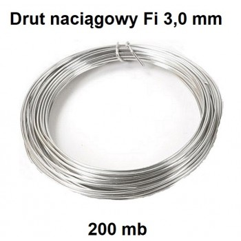 Drut Naciągowy Ocynk Fi 3,0 mm x 200 mb