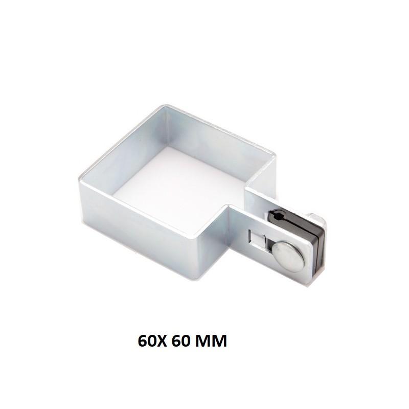 Obejma Kwadratowa Końcowa 60x60 mm Ocynkowana