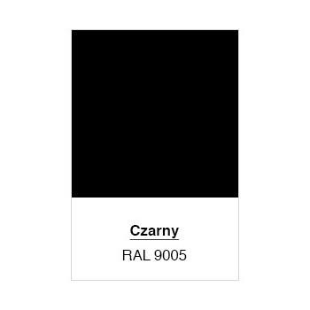 Klamka Czarna  z Szyldem na Wkładkę Prosta Uniwersalna 90 mm #2