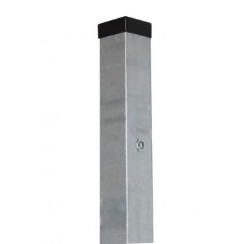 Słupek Ogrodzeniowy Furtkowy 60X60 mm + Nitonakretki Ocynkowany H- 2,0 m #2