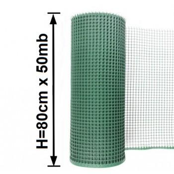 Siatka Ogrodzeniowa Rabatowa Plastikowa, Wys. 0,80 m x 50 m